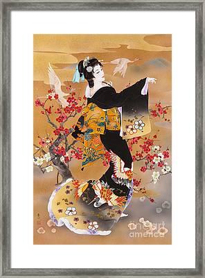 Tsuru Kame Framed Print by Haruyo Morita