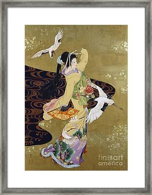 Tsuru No Mai Framed Print by Haruyo Morita