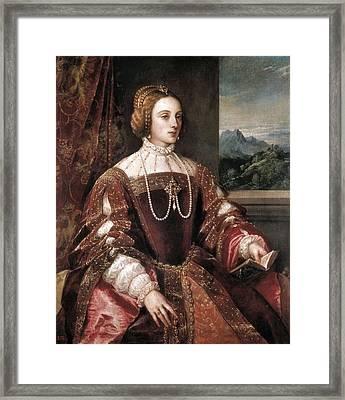 Ttitia, Tiziano Vecello, Also Called Framed Print by Everett
