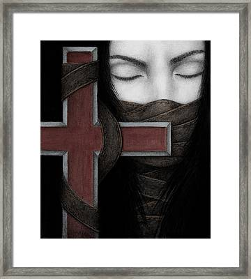 Framed Print featuring the painting Tu Non by Pat Erickson