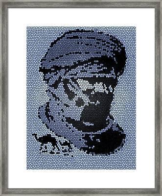 Tuareg Mosaic Framed Print by Anthony Dalton