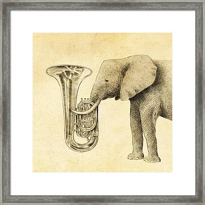 Tuba Framed Print by Eric Fan