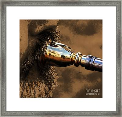 Tuba Gloss Framed Print by Steven  Digman