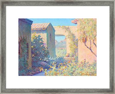 Tubac Village Center Framed Print by Ernest Principato