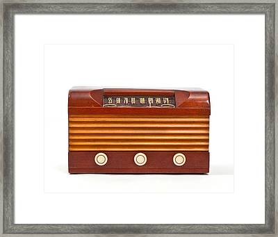 Vacuum Tube Radio Framed Print by David and Carol Kelly