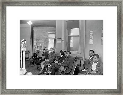Tuberculosis Patients Framed Print by Library Of Congress