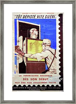 Tuberculosis Screening Framed Print by Cci Archives