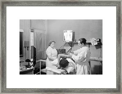 Tuberculosis Treatment Framed Print by Library Of Congress