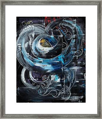 Tubular Chaos Framed Print