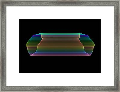 Framed Print featuring the digital art Tubular Rainbow by Denise Beverly