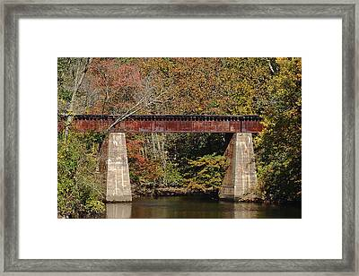 Tuckahoe Railroad Bridge Up Close Framed Print by Bill Swartwout Photography
