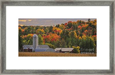 Framed Print featuring the photograph Tucked Away In Autumn by Trey Foerster