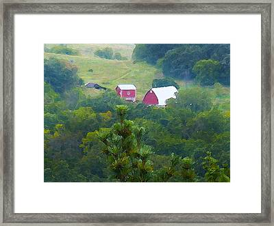 Tucked Away Framed Print