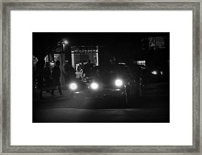 Tucker Noir Framed Print