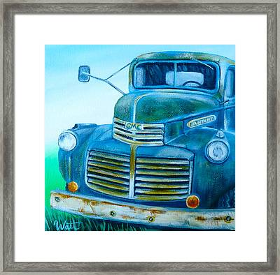 Tuckered Out Framed Print by Tammy Watt