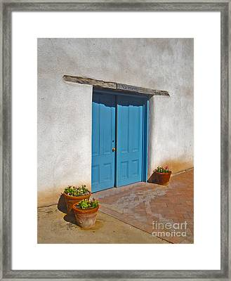 Tucson Arizona Blue Door Framed Print by Gregory Dyer