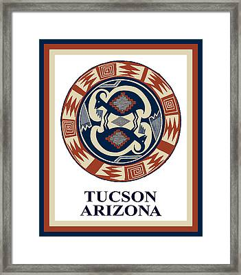 Tucson Arizona  Framed Print by Vagabond Folk Art - Virginia Vivier