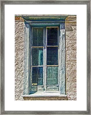 Tucson Arizona Window Framed Print by Gregory Dyer