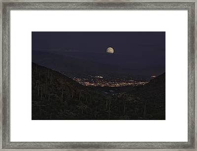 Tucson At Dusk Framed Print
