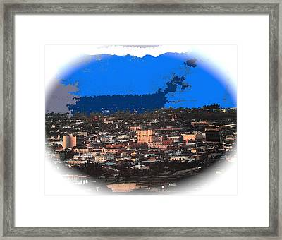 Tucson From A Mountain Ray Manley 1957-2013 Framed Print