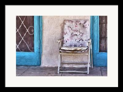 Front Porch Mixed Media Framed Prints