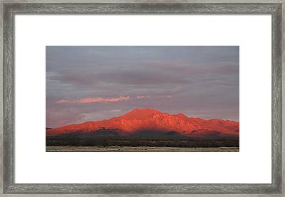 Framed Print featuring the photograph Tucson Mountains by David S Reynolds