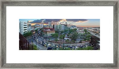 Tucson Streetcar Sunset Framed Print