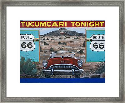 Tucumcari Tonight Mural On Route 66 Framed Print