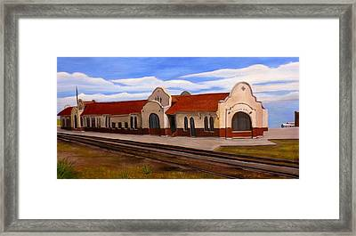Tucumcari Train Depot Framed Print