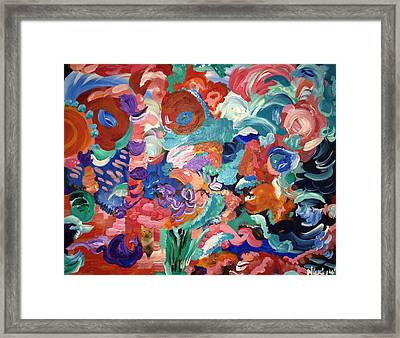 Tuddy Leaves Earth Framed Print