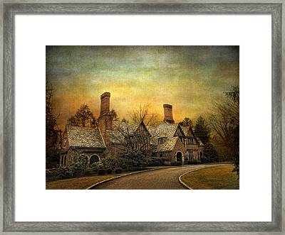 Tudor In Winter Framed Print