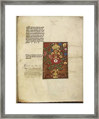 Tudor Rose Framed Print by British Library
