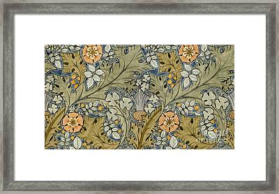 Tudor Roses Thistles And Shamrock Framed Print by Voysey