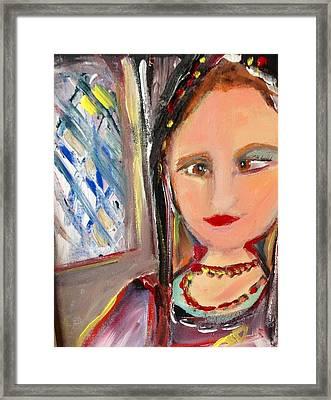 Tudor Spoon Theft Framed Print by Judith Desrosiers