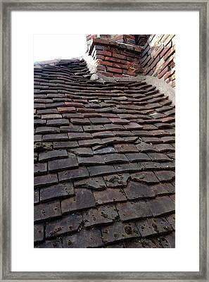 Tudor Tile Roof Framed Print by Cordelia Molloy
