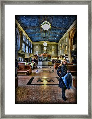 Tuesday Afternoon At The Train Station Framed Print by Lee Dos Santos