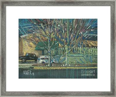 Tuesday Shopping Framed Print by Donald Maier