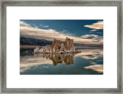 Tufa Reflections Framed Print by Cat Connor