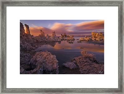 Tufa Taffy Framed Print