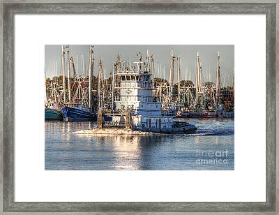 Tug Boat Apollo Port Arthur Texas Framed Print