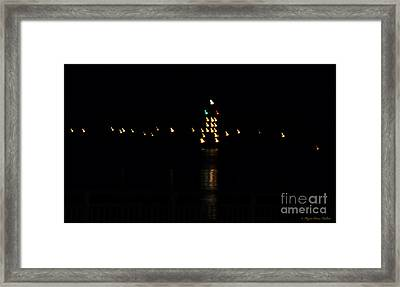 Framed Print featuring the photograph Tug Boat Light Painting by Megan Dirsa-DuBois