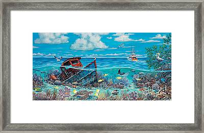Tug Boat Reef Framed Print by Danielle  Perry