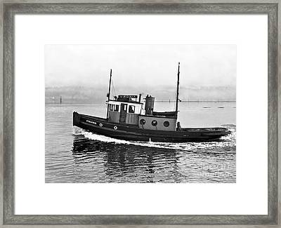 Tug Boat Virginia 1930 Framed Print