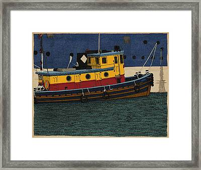Tug Framed Print by Meg Shearer