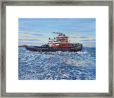 Tug Of The Ocean Framed Print by Danielle  Perry