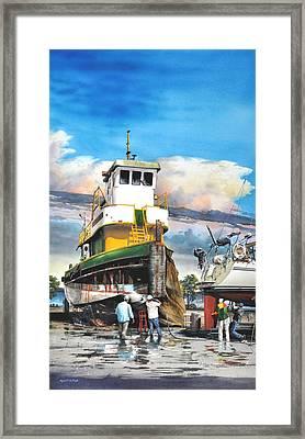 Tugboat Brown Gulf Framed Print