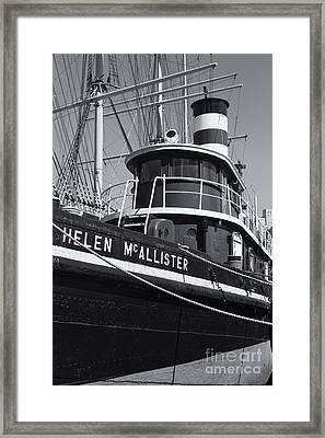 Tugboat Helen Mcallister II Framed Print by Clarence Holmes