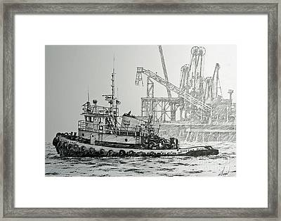Tugboat Martha Foss Framed Print