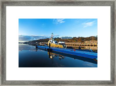 Tugboat Moored At The River Suir Framed Print by Panoramic Images