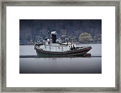 Tugboat On The Kalamazoo River Framed Print